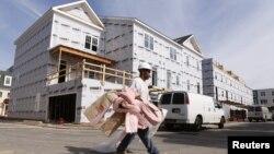 Строительство новых домов в Александрии, Вирджиния. 17 октября 2012 года
