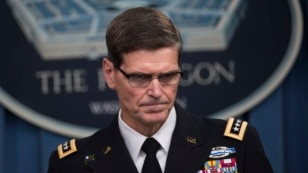 Army Gen. Joseph Votel, Commander of U.S. Central Command, briefs reporters on the release of the investigation into the U.S. airstrike on the Doctors With Borders trauma center in Kunduz, Afghanistan, April 29, 2016, at the Pentagon.