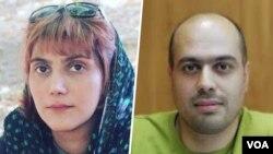 مرضیه امیری و مسعود کاظمی روزنامه نگاران زندانی