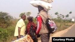 Abantu barashobora kururuka imiduga bageze ku rugabano rw'Uburundi n'Urwanda bakarengana n'amaguru