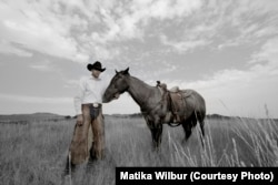 Industrial engineering student, Stephen Yellowtail, of the Crow Nation, at his family's cattle ranch in Montana.