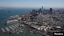 图为美国旧金山市。(2017年10月5日)