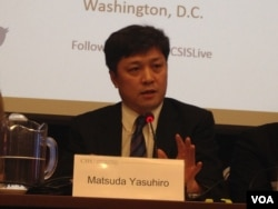东京大学亚洲研究所教授松田康博(美国之音 钟辰芳拍摄)