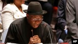 Shugaban kasar Najeriya Goodluck Jonathan.
