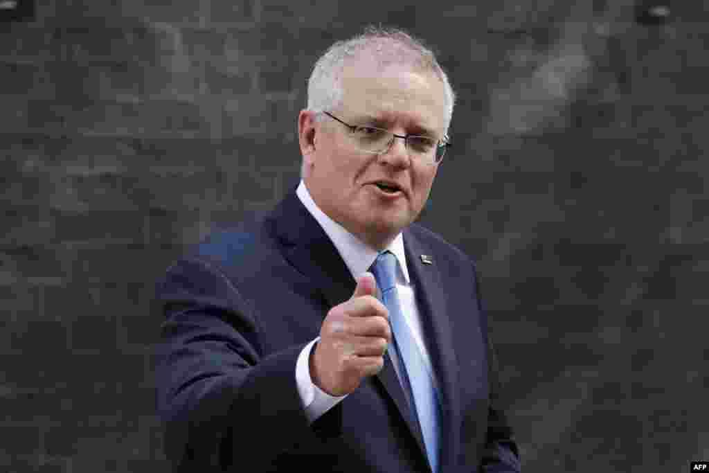 Avstraliyanın Baş naziri Skott Morrison ABŞ və İngiltərə ilə üçtərəfli ittifaqa qoşulmaq qərarını müdafiə edib