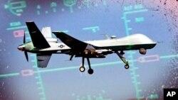 Một chiếc máy bay không người lái của Mỹ cất cánh từ căn cứ không quân ở Kandahar, Afghanistan.