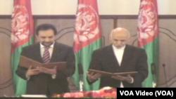 احمد ضیا مسعود به حیث نماینده فوق العاده رئیس جمهور افغانستان در امور اصلاحات وحکومتداری خوب مراسم تحلیف را به جا آورد.