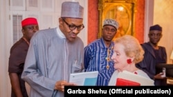 Nigerian President Muhammadu Buhari and former US Secretary of State, Dadeline Albright, at Blair House, Sunday 19 July, 2015