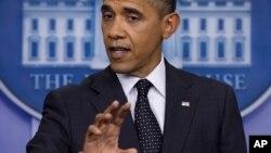 """Barack Obama dijo que si Siria usa armas de destrucción masiva cruzaría una """"línea roja""""."""