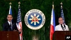 ປະທານາທິບໍດີ Barack Obama ແລະ ປະທານາທິບໍດີ Benigno Aquino.