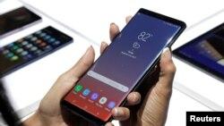 Nouvo telefòn Samsung Galaxy Note 9 yo te prezante Brooklyn, New York, U.S.,
