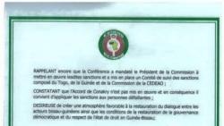Guiné-Bissau: Sancionados pela CEDEAO apresentam petição