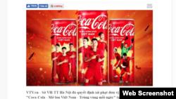 VTV loan tin mẫu quảng cáo Mở lon Việt Nam bị phạt 25 triệu đồng. Photo VTV