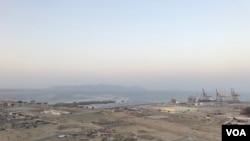A general view of Gwadar port in Gwadar, Pakistan. (A. Gul/VOA)