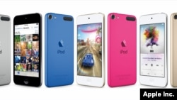 Desain iPod Touch baru yang dirilis oleh Apple Inc., 15 Juli 2015.