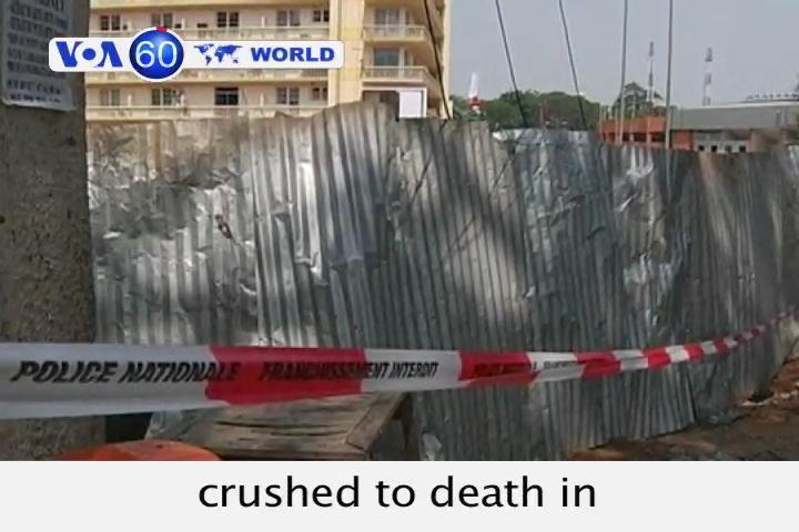 Sixty people dead in a stampede during new year festivities in Ivory Coast.
