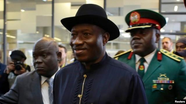 FILE - Nigeria's President Goodluck Jonathan.