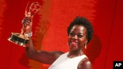 Viola Davis arrives at the 2015 HBO Primetime Emmy Awards After Party at Pacific Design Center on Sept. 20, 2015, in West Hollywood, Calif.