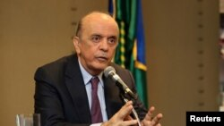 Brazil´s Foreign Affairs Minister Jose Serra
