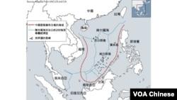 南中國海專屬經濟區地圖