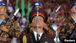 Mustaqillik kunidagi harbiy paradda, Toshkent