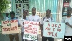 Manfiestação na Universidade UKB em Benguela