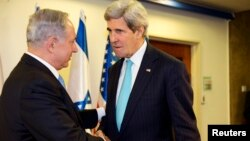 Биньямин Нетаньяху и Джон Керри. Иерусалим. 31 марта 2014 г.