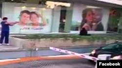 Potongan video yang memperlihatkan pelaku penembakan terhadap seorang pejabat konsulat AS di Guadalajara, Meksiko.