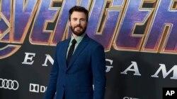 """Chris Evans tiba di pemutaran perdana """"Avengers: Endgame"""" pada 22 April 2019. Evans berusia 40 tahun pada 13 Juni. (Foto: Jordan Strauss/Invision/AP, File)"""