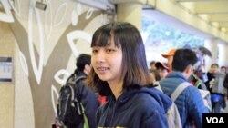 香港中文大學學生會外務副會長朱安妮。(美國之音湯惠芸)