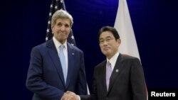 克里國務卿在馬來西亞會見日本外相岸田文雄
