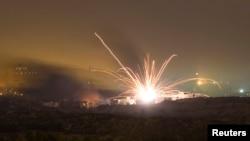 7月17日以色列火箭對北加沙地帶開火。