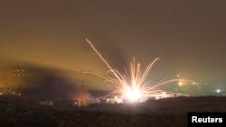 اصابت راکت شلیک شده از جانب اسراییل بر نوار غزه