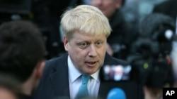 보리스 존슨 런던 시장이 지난 21일 기자회견을 열고 유럽연합 탈퇴 지지 입장을 공식 발표하고 있다.
