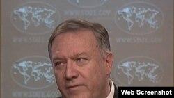 El secretario de Estado, Mike Pompeo, dijo este 18 de noviembre que Irán está rusando sus viejas tácticas para chantajear a la comunidad internacional.