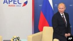 Короткие минуты отдыха президента России В.Путина