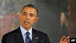奥巴马总统4月5日在白宫的复活节早餐会上发表讲话