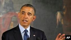President Barack Obama speaks during an Easter Prayer Breakfast in the East Room of the White House in Washington, April 5, 2013.