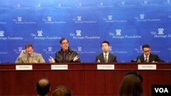 미국 워싱턴의 보수 성향 연구소인 헤리티지재단에서 15일 유엔 안보리의 새로운 대북 제재 결의를 평가하는 토론회가 열렸다.