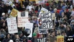 Irlandezët protestojnë ndaj masave buxhetore