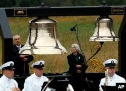 Меморіальна служба за загиблими рейсу 93 у місті Шенксвіл, штат Пенсильванія, 11 вересня 2018 року.
