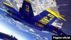 Pesawat F-18 Blue Angels saat terbang di atas Baltimore, Maryland (foto: dok). Seorang pilot F-18 Blue Angels tewas dalam latihan hari Kamis 2/6.