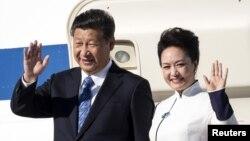 Chủ tịch Trung Quốc Tập Cận Bình và phu nhân trong chuyến thăm Mỹ hồi cuối tháng 9/2015.