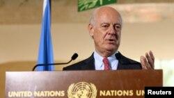 Спеціальний посланник ООН з питань Сирії Стеффан де Містура на пре-конференції у Сирії