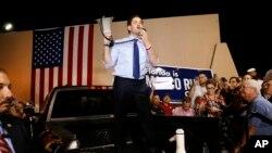 Le sénateur Marco Rubio lors de sa campagne électorale à Miami, Florida, le 14 mars 2016.
