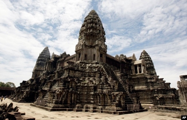 FILE - Cambodia's famed Angkor Wat ancient Hindu temple complex stands in Siem Reap province, some 230 kilometers (143 miles) northwest Phnom Penh, Cambodia, June 28, 2012.