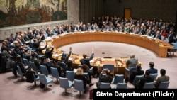 미국 뉴욕 유엔 본부에서 열린 유엔 안보리 회의. (자료사진)