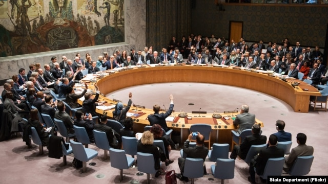 United Nations Security Council members are seen voting at U.N. headquarters in New York, Dec. 18, 2015. Secretaries-general are elected in a more secretive process.