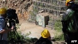 지난 5월 북한이 풍계리 핵실험장을 폭파하기 전 촬영한 갱도 입구.