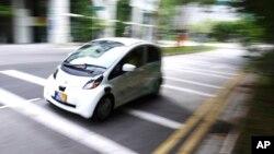 Samovozeći automobil tokom probne vožnje u Singapuru